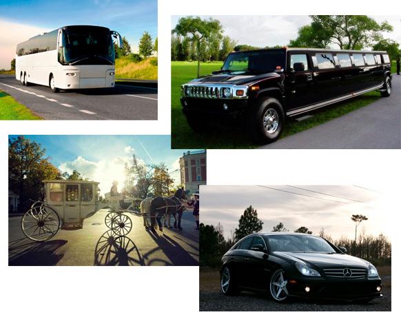 Транспорт в усадьбу за минском Вяселая хата: автобус, лимузин, корета, автомобиль